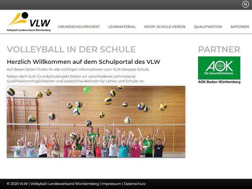 VLW startet Schul-Portal volleyball.schule